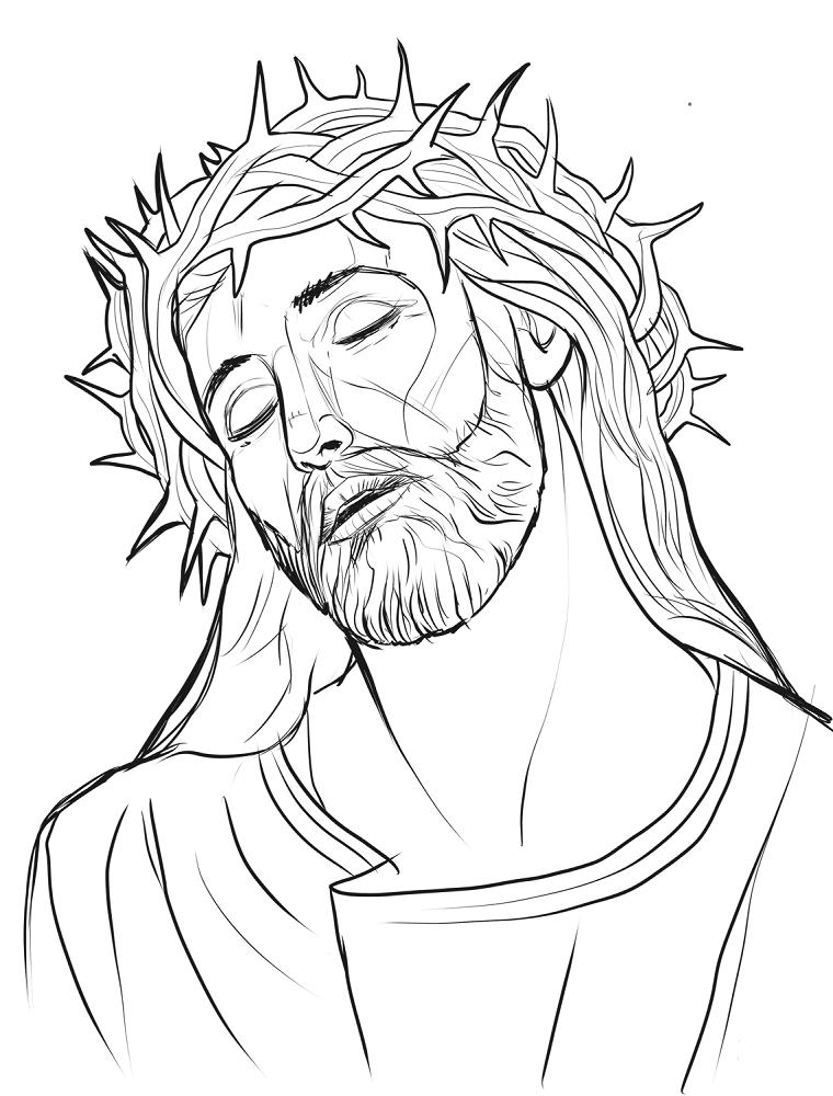 Jesus Christmas in crown of thorns
