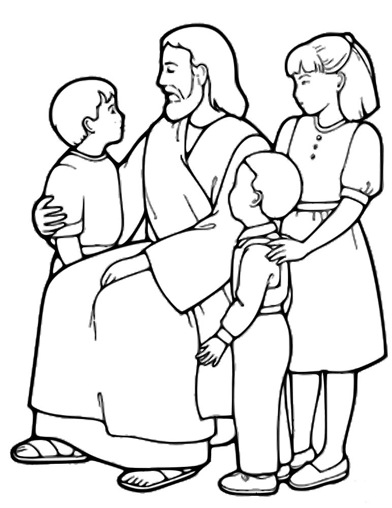 Jesus with little kids