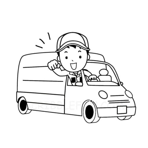 Mail man coloring page