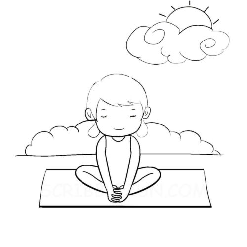 Outdoors coloring page