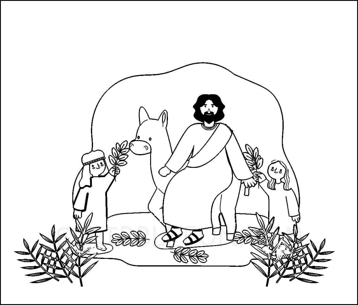 Palm Day coloring pages