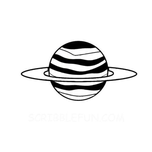 Planet Jupiter colorirng page