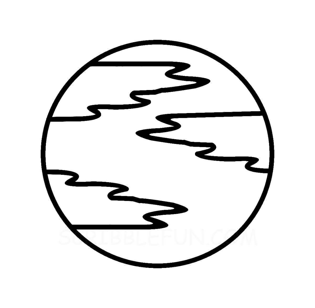 Planet Mercury coloring page