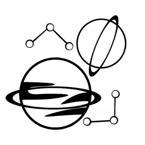 Planets coloring pages