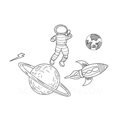 Planets colouring pages