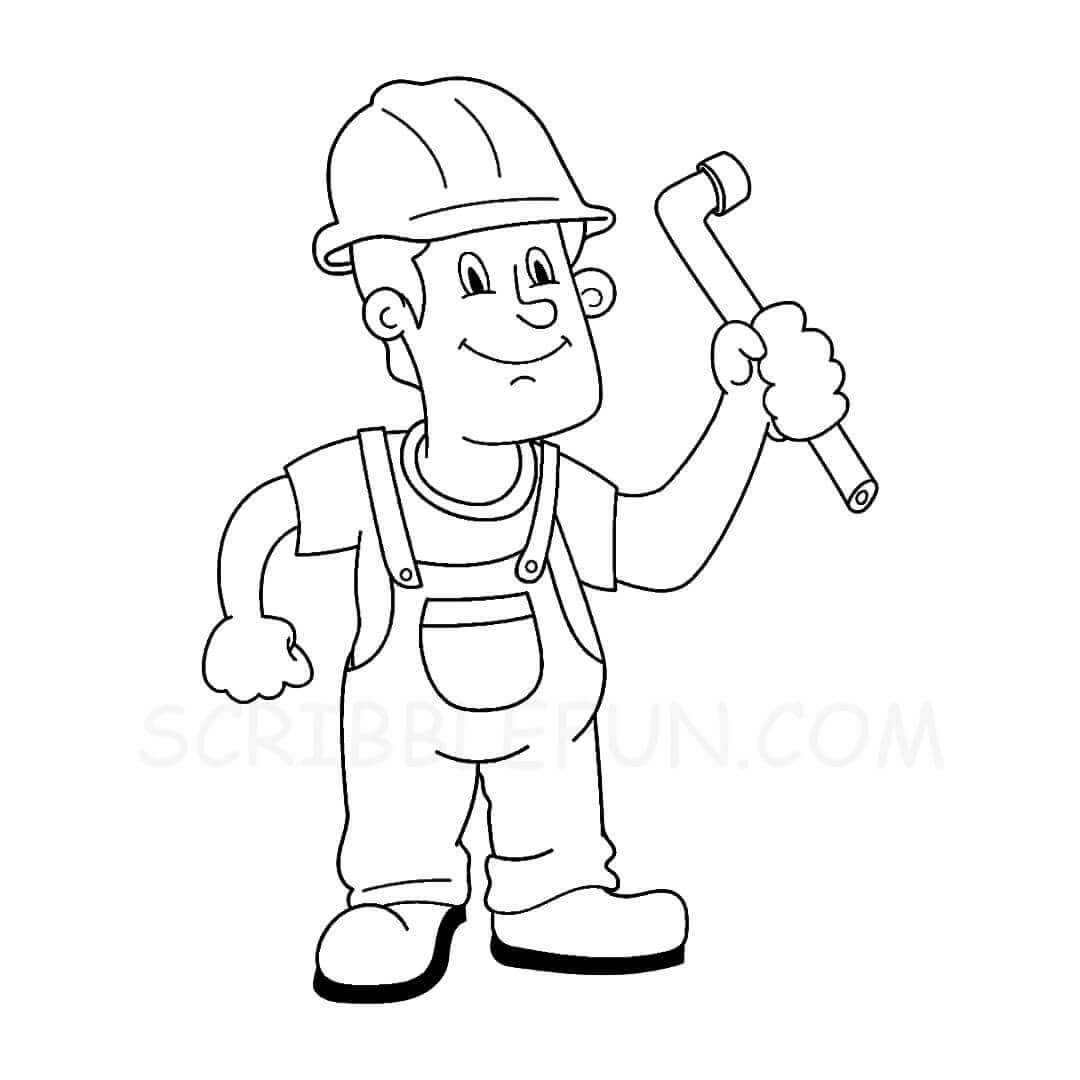 Plumber coloring page
