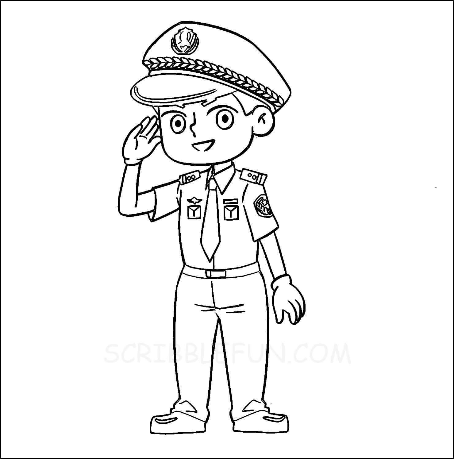 Policeman coloring page