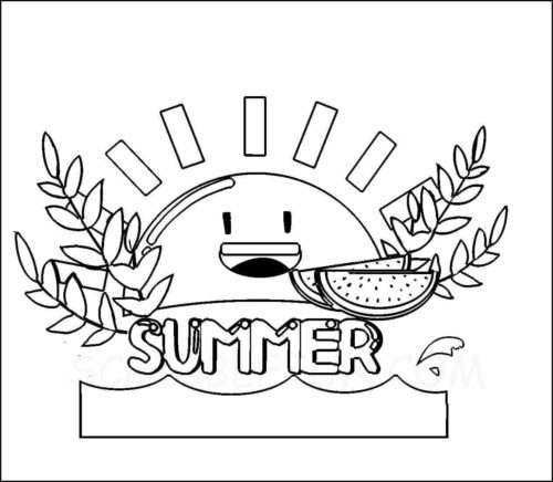 Summer sun coloring sheet