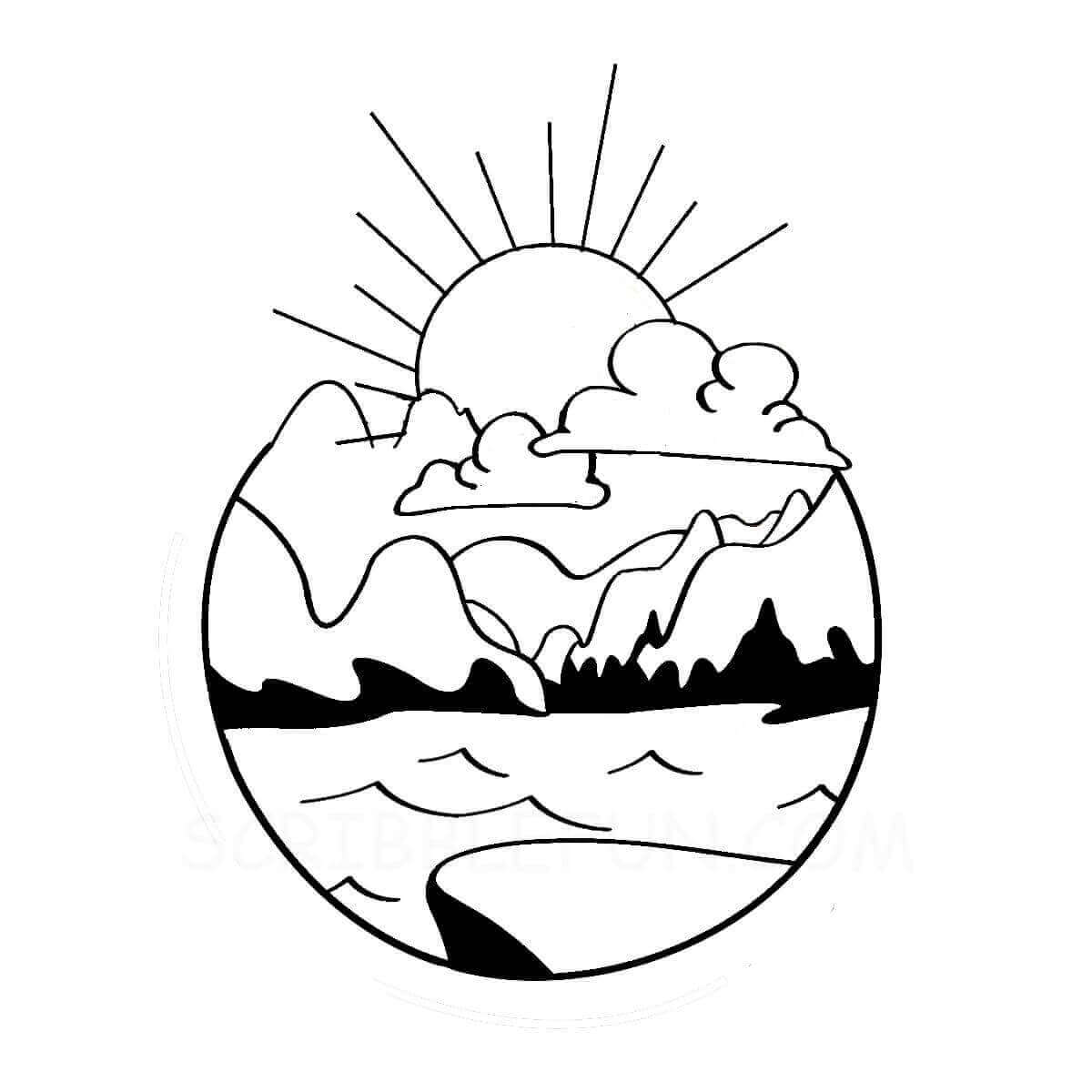 Sun coloring pictures printable