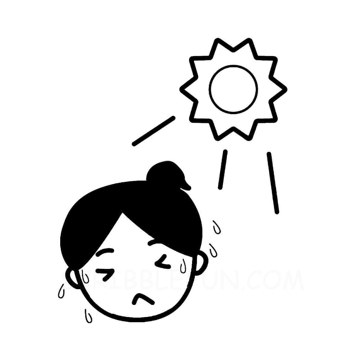 Sun makes one sweaty