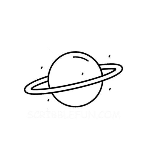 Uranus planet coloring page