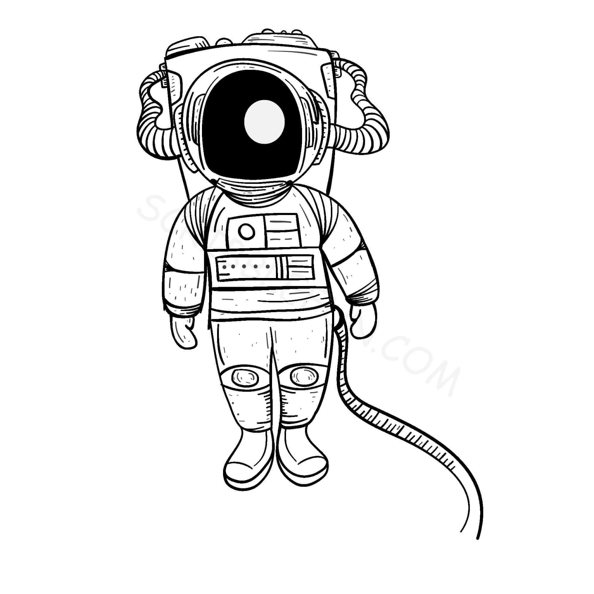 Astronaut coloring images