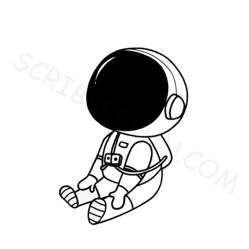 Astronaut coloring pages free printable