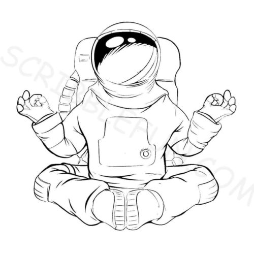 Cosmonaut coloring pages printable
