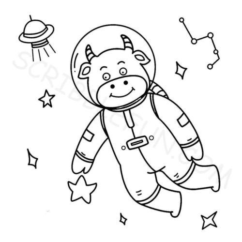 Cow as an astronaut