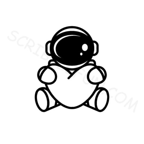 Cute astronaut coloring page