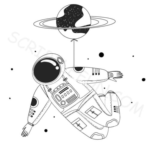 Free printable spaceman coloring pages