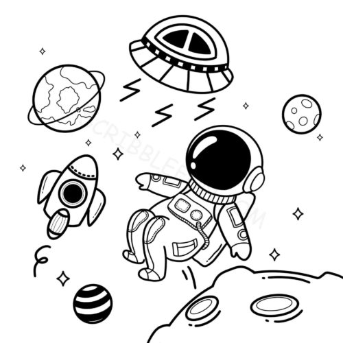Spaceman coloring pages