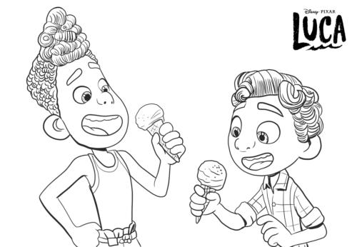 Alberto and Luca coloring page