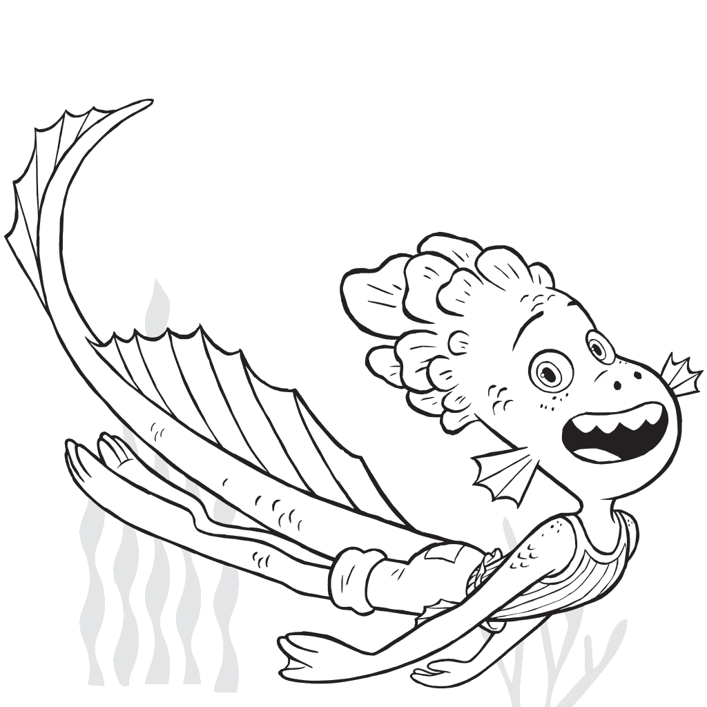 Alberto from Luca coloring page
