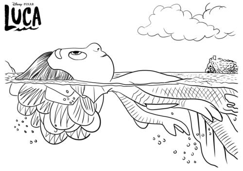 Disney Pixar Luca coloring pages printable
