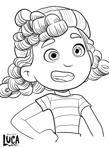 Giulia from Disney Luca coloring page