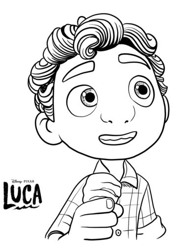 Luca Paguro Coloring Page