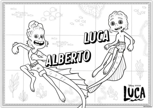 Luca and Alberto the Sea monsters