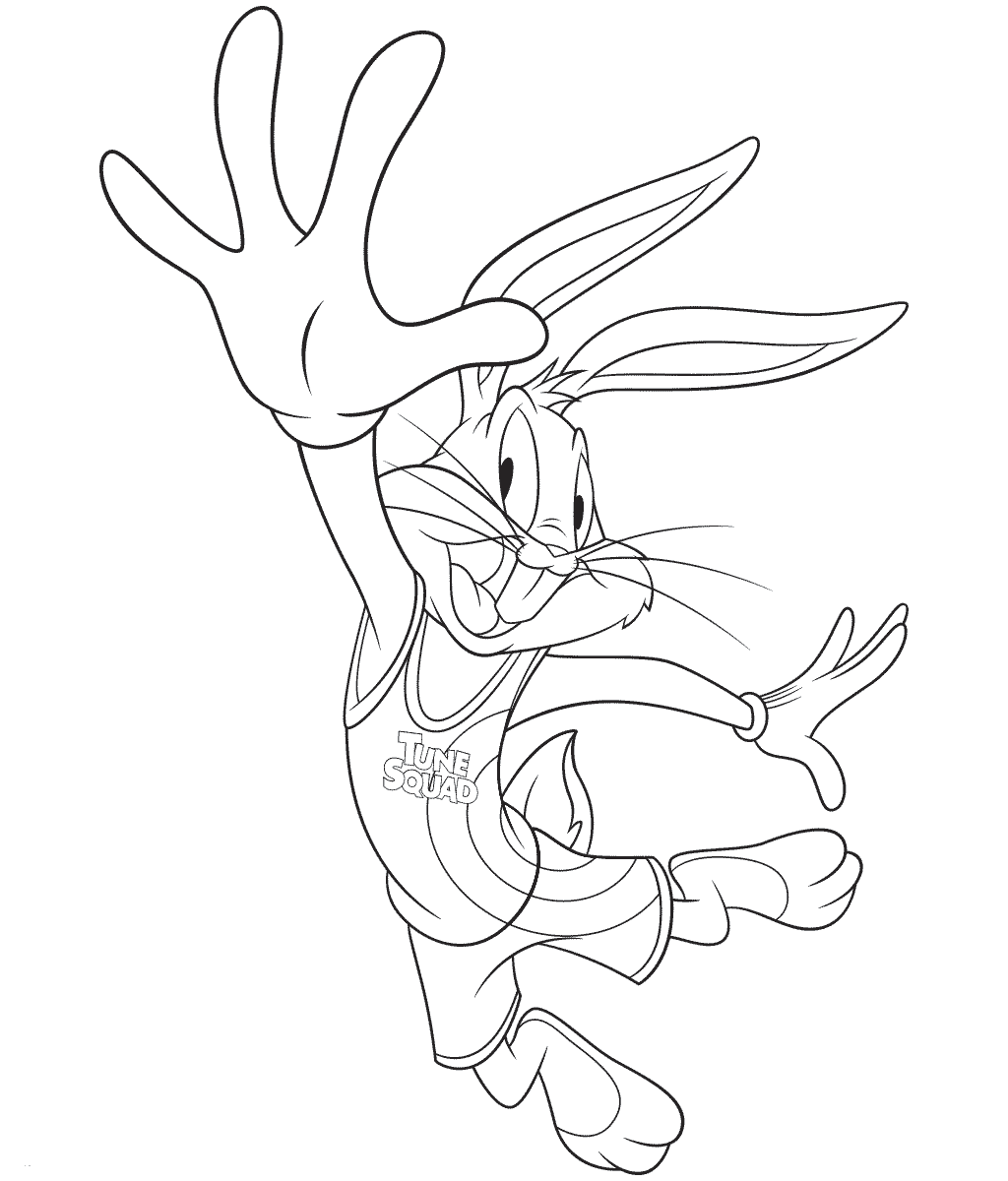 Bugs Bunny from Space Jam 2 Coloring Page