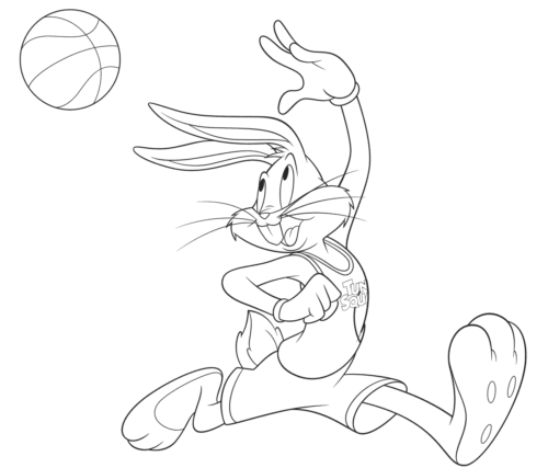Bugs Bunny from Space Jam 2 Coloring Pages