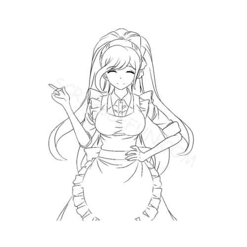 Chisa Yukizome from Danganronpa coloring page