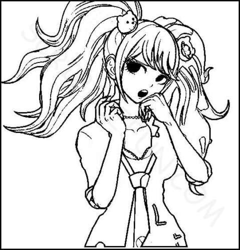 Junko Enoshima coloring page