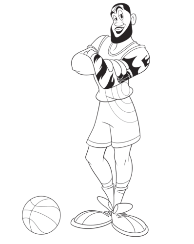 LeBron James Coloring Page From Space Jam A New Legacy