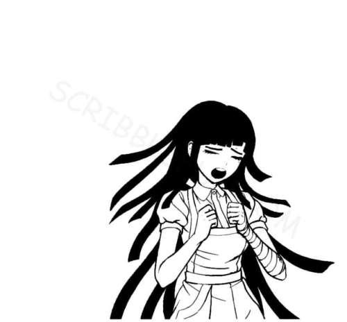 Mikan Tsumiki from Danganronpa coloring page