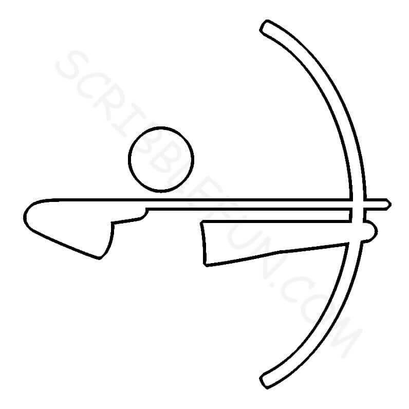 Summer Olympic Coloring Page Archery