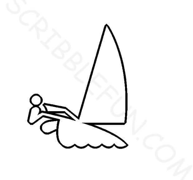 Summer Olympic Coloring Page Sailing