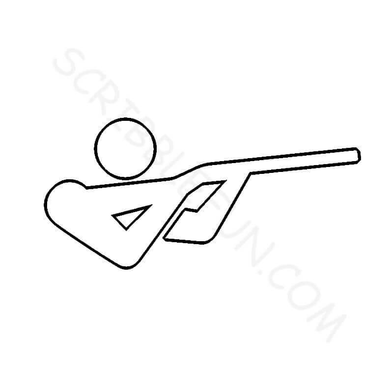 Summer Olympic Coloring Page Shooting
