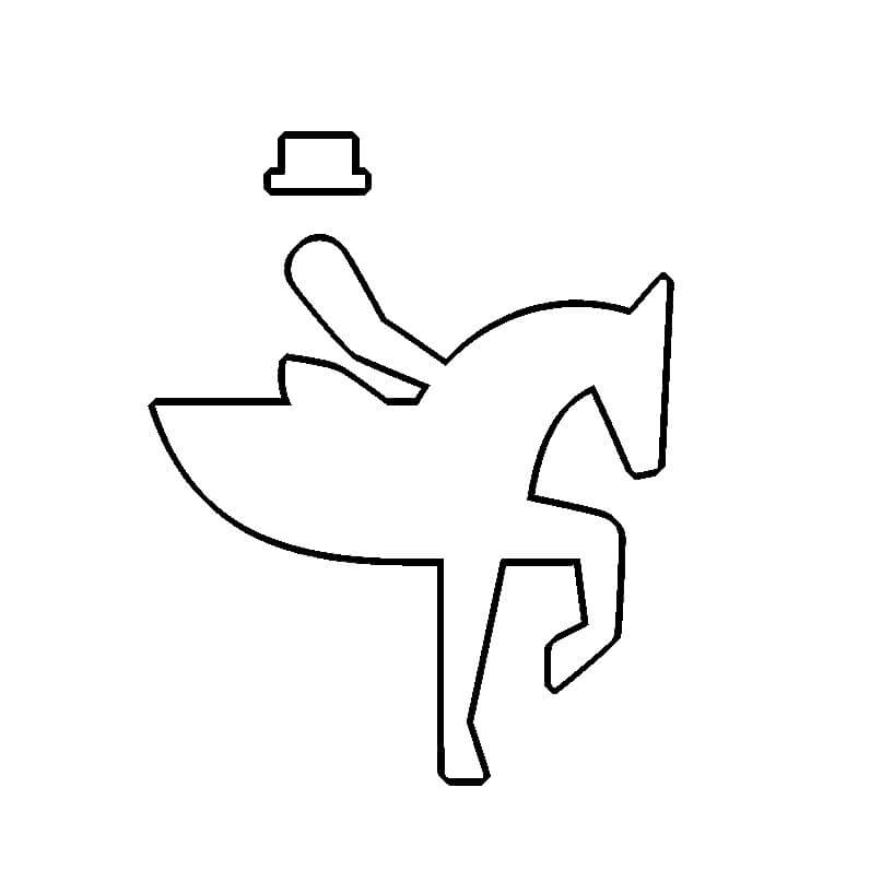 Summer Olympic Equestrian coloring page