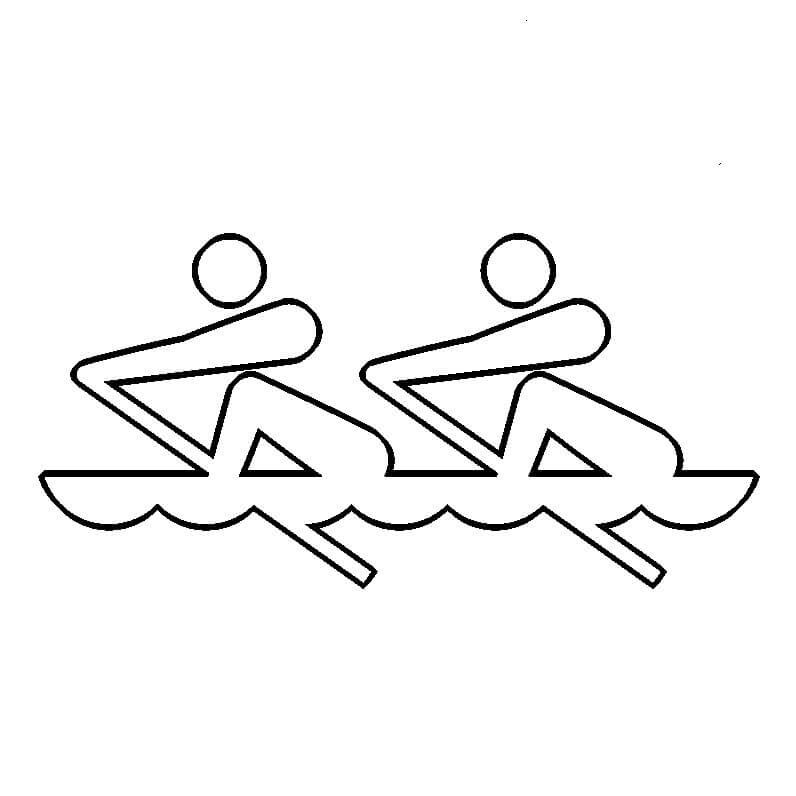 Summer Olympics Coloring Page Rowing