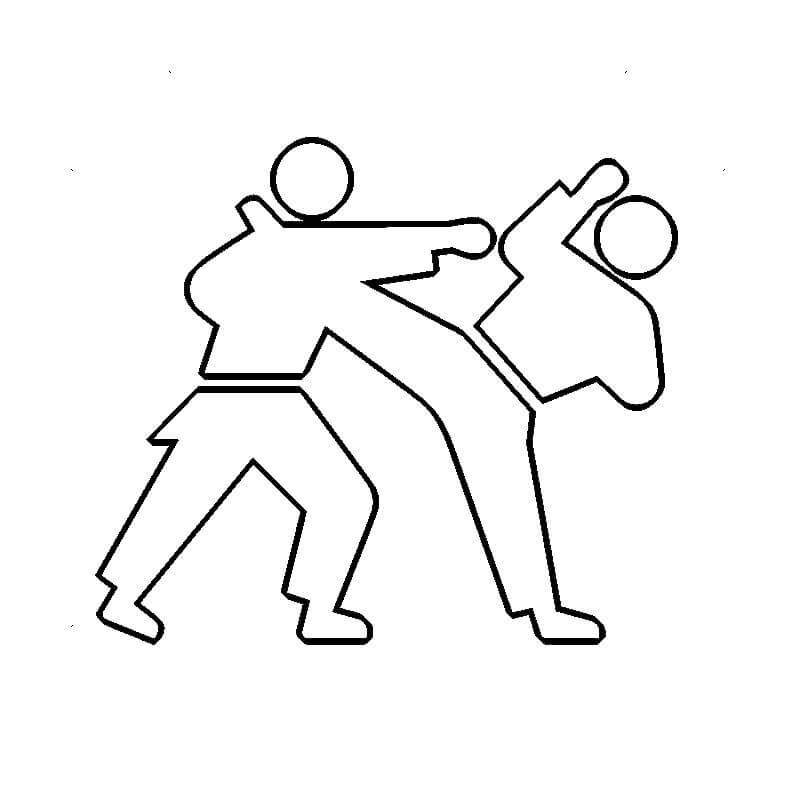 Summer Olympics Coloring Pages Karate