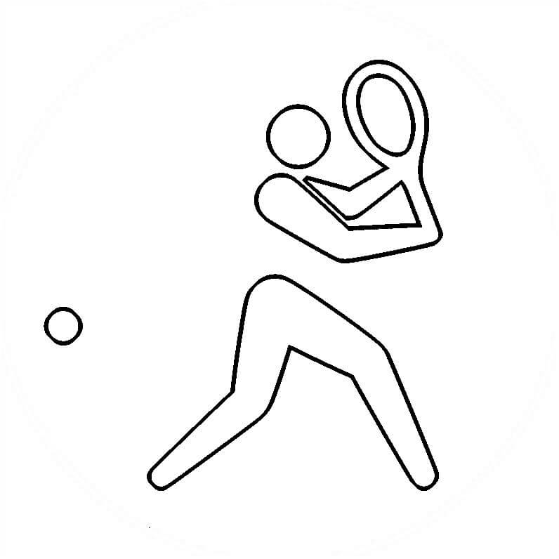 Tokyo Summer Olympics 2021 Coloring Page Table Tennis