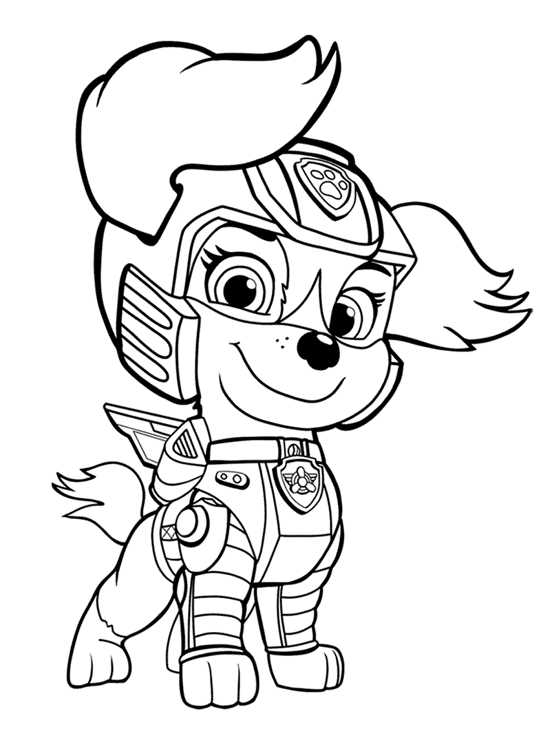 Liberty from Paw Patrol movie coloring page